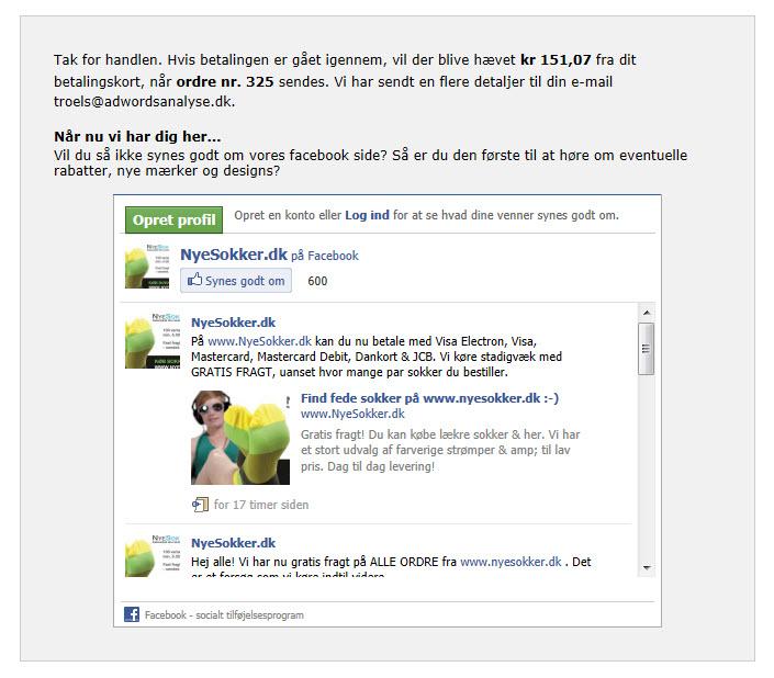 NyeSokker Facebook Boks