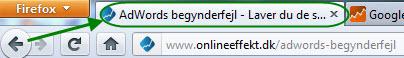 Sidetitel i browserens topbar