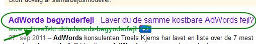 Title tag i Googles søgeresultater